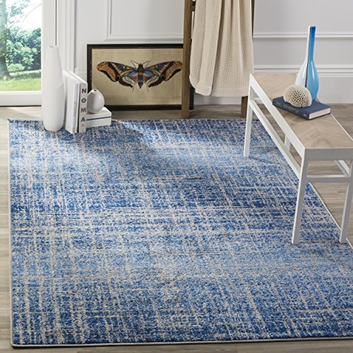 Safavieh Adirondack Collection ADR116D Blue and Silver Modern Abstract Area Rug (8' x 10')