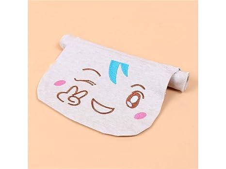 HGJNGHBNG Baño de bebe Niños Expresión Bordado Sudor Absorbente Toalla de Algodón Sudor Toalla