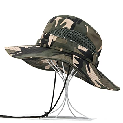 Leories Outdoor Hat UV Protecting Camping Hat Sun Hat Fishing Cap Wide Brim Bucket  Hat with c68d04c182e
