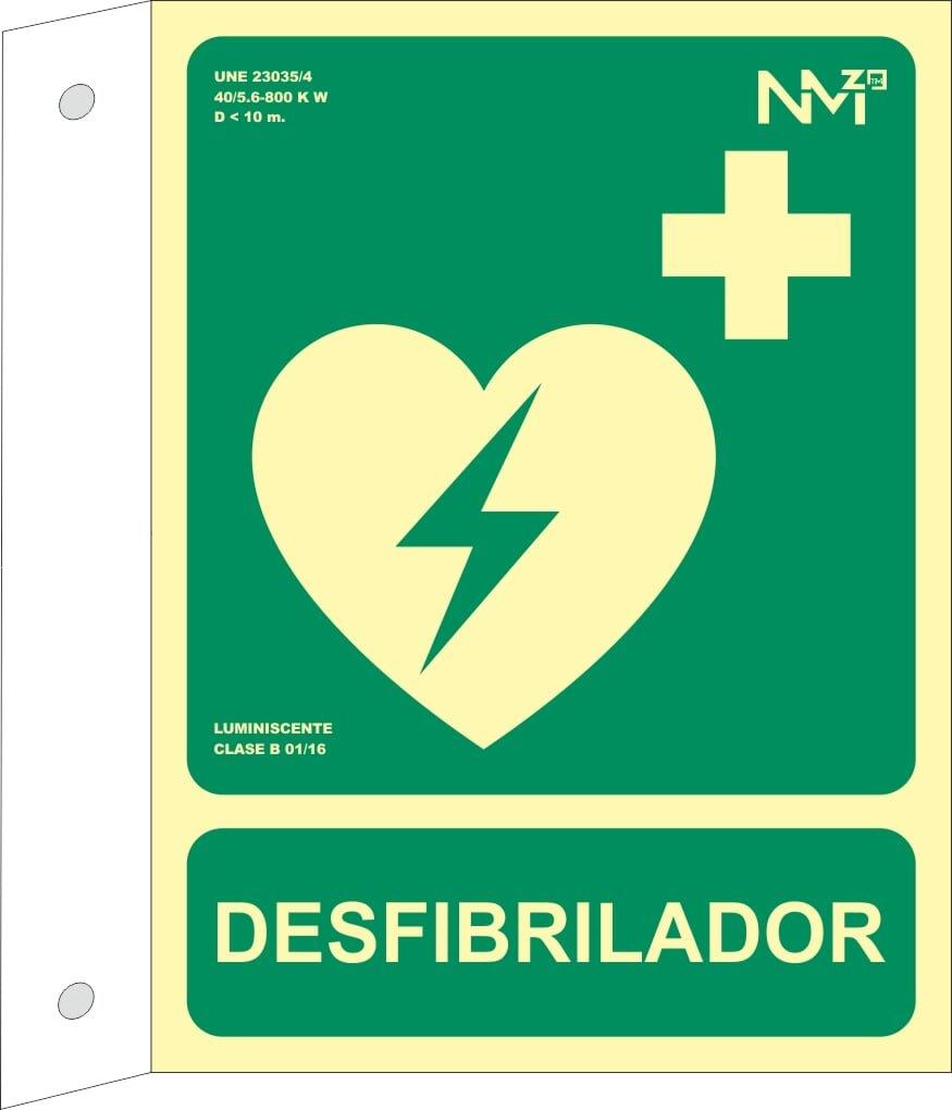 Normaluz RD16012 - Banderola Luminiscente DesfibriLador Clase B ...