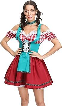 Señoras disfraz de Halloween Oktoberfest Maid Service Bar camarero ...