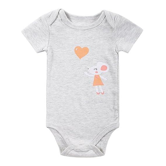 Decdeal Mono de los Mamelucos del bebé 100% algodón Manga Corta Unisex Ropa  de bebé recién Nacido a27efa5e65c