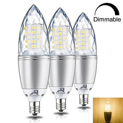 Rayhoo E12 Base Led Light Bulbs Dimmable Candelabra Led Bulbs 10w