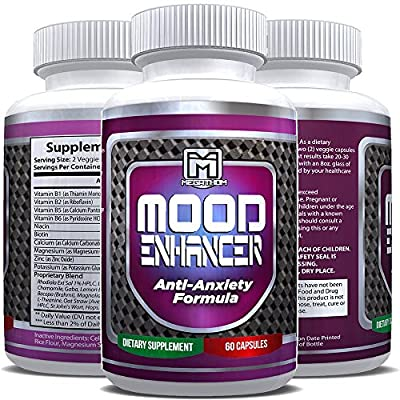 MOOD ENHANCER | Best Anxiety Relief supplement (60 capsules) USA premium quality 100% Guarantee!