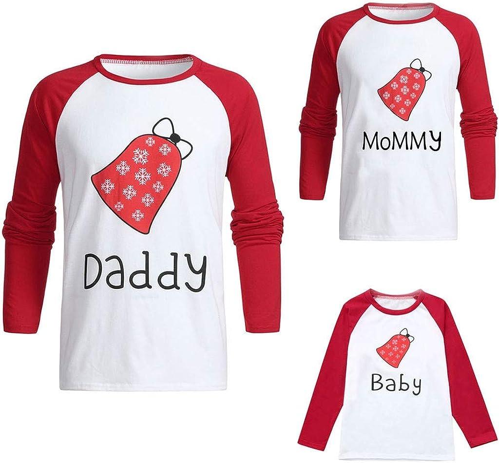 4Clovers Dad Mom Kids Family Matching Christmas Letter Pajamas Set Sleepwear