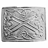 New Scottish Saltire & lion Kilt Belt Buckle, Chrome Finish