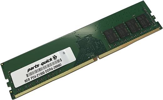 parts-quick 8Gb Memory For Asus Rog Crosshair Vii Hero, Asus Rog Crosshair Vii Hero, Asus Rog Crosshair Vii Hero Ddr4 Pc4-21300 2666Mhz Non-Ecc Unbuffered Dimm Ram