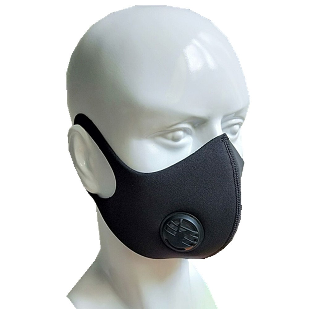 Ligart Single Valve Dust Mask with Earloop Adjustable N99 Activated Carbon Mask Filters Filtration Exhaust Gas Anti Pollen Allergy PM2.5 Dustproof Mask for Running Outdoor Activities