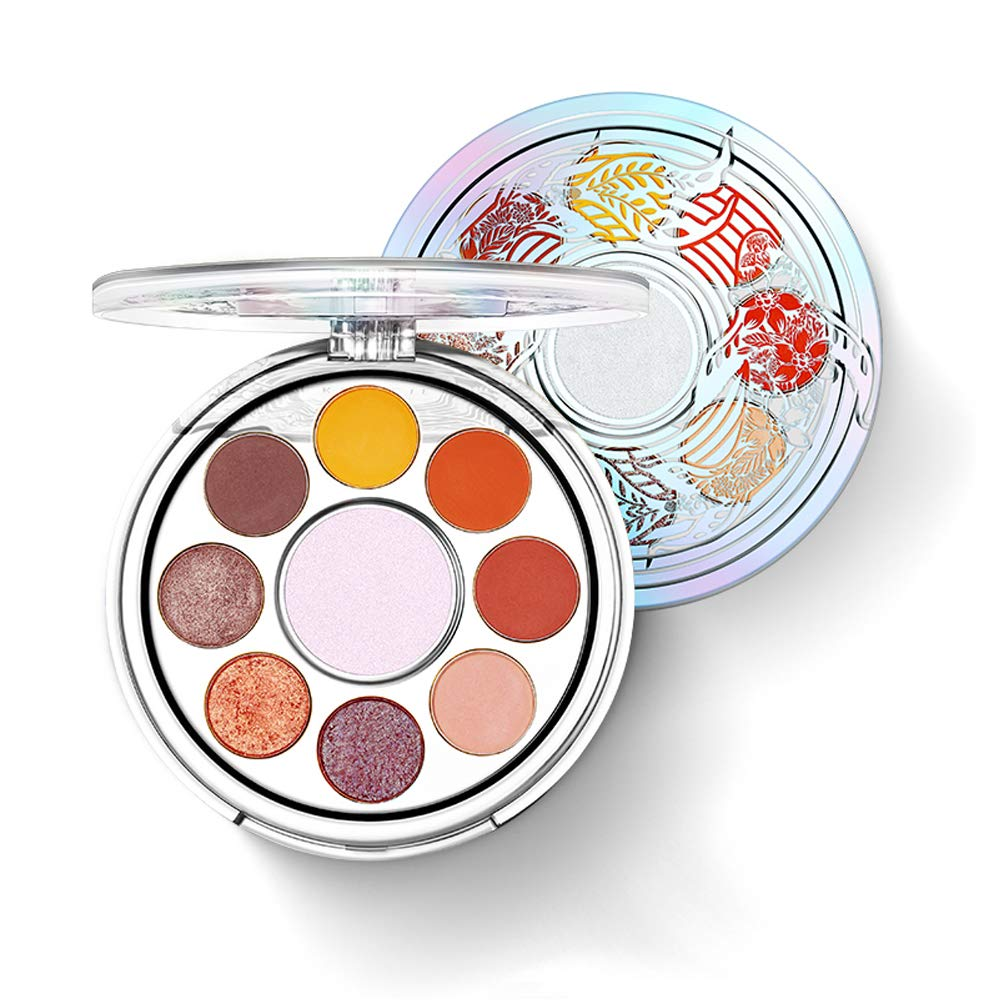 KISSIO Eyeshadow Set Of 9 Colors, Practical Colors, Pigmentation, Long-Lasting, Rotating Design, CHINA Style, Good Gift