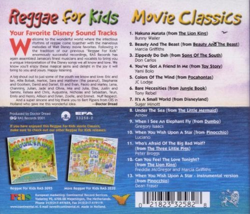 Reggae for Kids: Movie Classics by Sanctuary Records