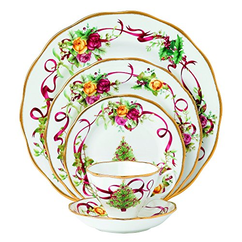 Royal Albert Old Country Roses Christmas Tree Place Setting, 5-Piece (Royal Albert Dishes compare prices)