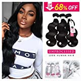Sedittyhair Brazilian Human Hair Bundles (16 18 20 Total 300g) Body Wave Bundles