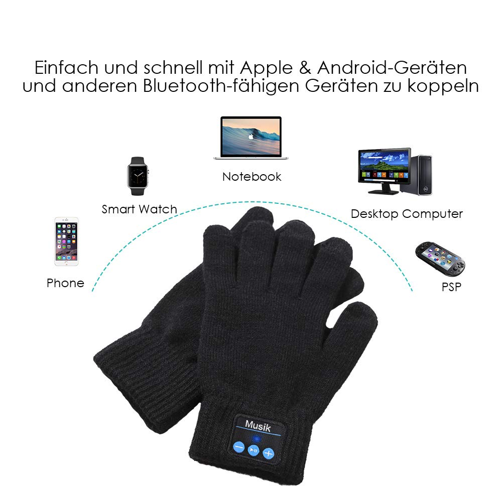 Guantes Bluetooth, Auricular Bluetooth Inalámbricos, Guantes de ...