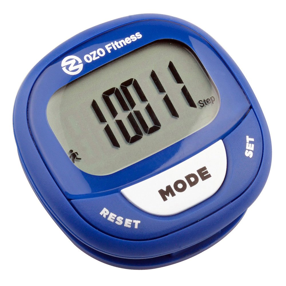 OZO Fitness SC2 Digital Pedometer | Best Pedometer for Walking | Accurately Track Steps and Miles, Calories Burned & Speed | A Step Tracker for Men & Women | Buy Your Step Counter Today! (Navy Blue)