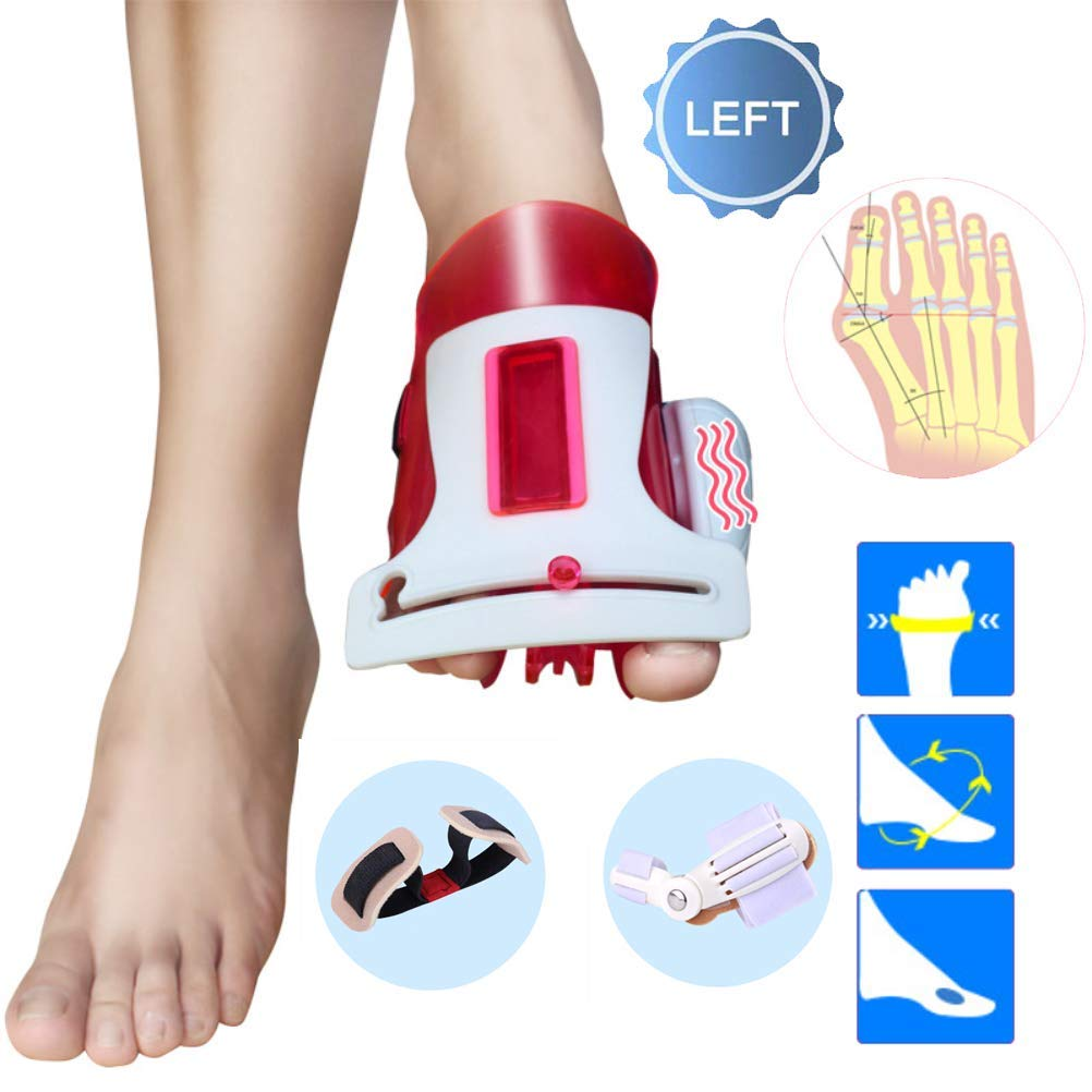 CXDM Bunion Splints Big Bones Hallux Valgus Orthosis Pain Relief and Orthopedic Rehabilitation Unisex Bunion Corrector,Red,Left by CXDM