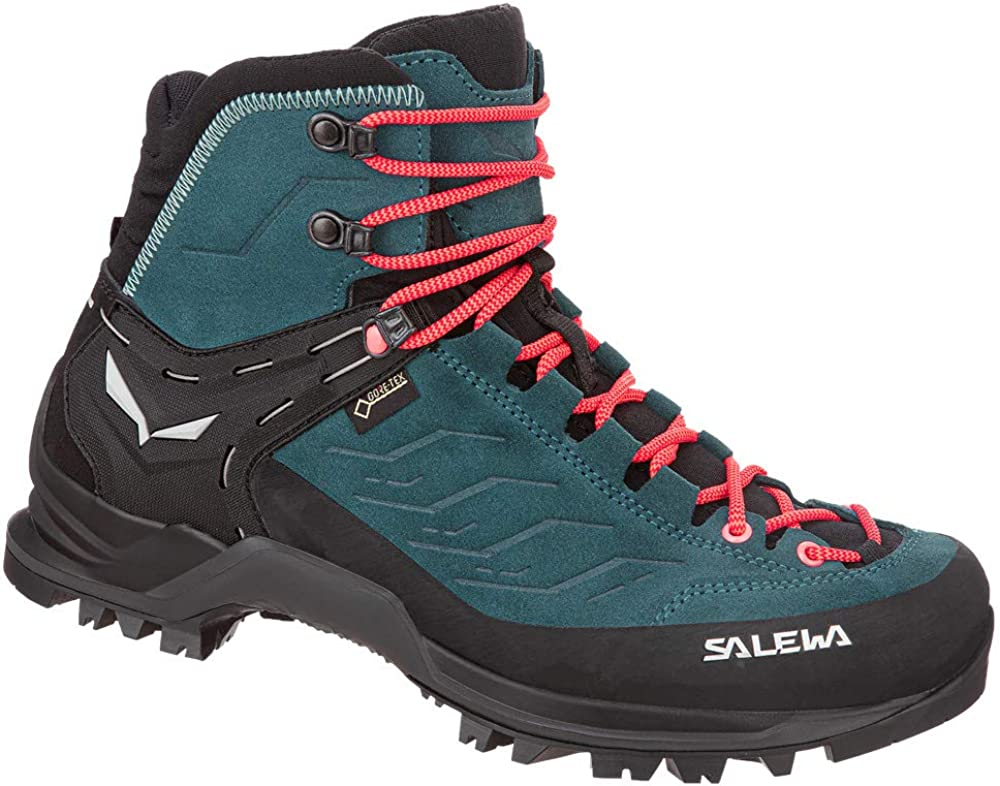 Salewa Women s Mountain Trainer Mid GTX Alpine Trekking Boot Hiking, Alpine Climbing, Technical Approach Gore-Tex Breathable Waterproof Protection, Vibram Sole, Durable Leather and Fabric Upper