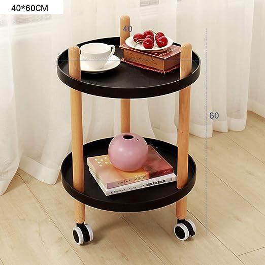 XIAOYAN Mesa De Cafe Mesa de centro con ruedas Dormitorio Sala de ...