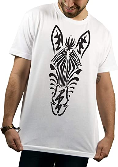 SUPERMOLON Camiseta Blanca Unisex Zebra Modelo Básica: Amazon.es: Ropa y accesorios