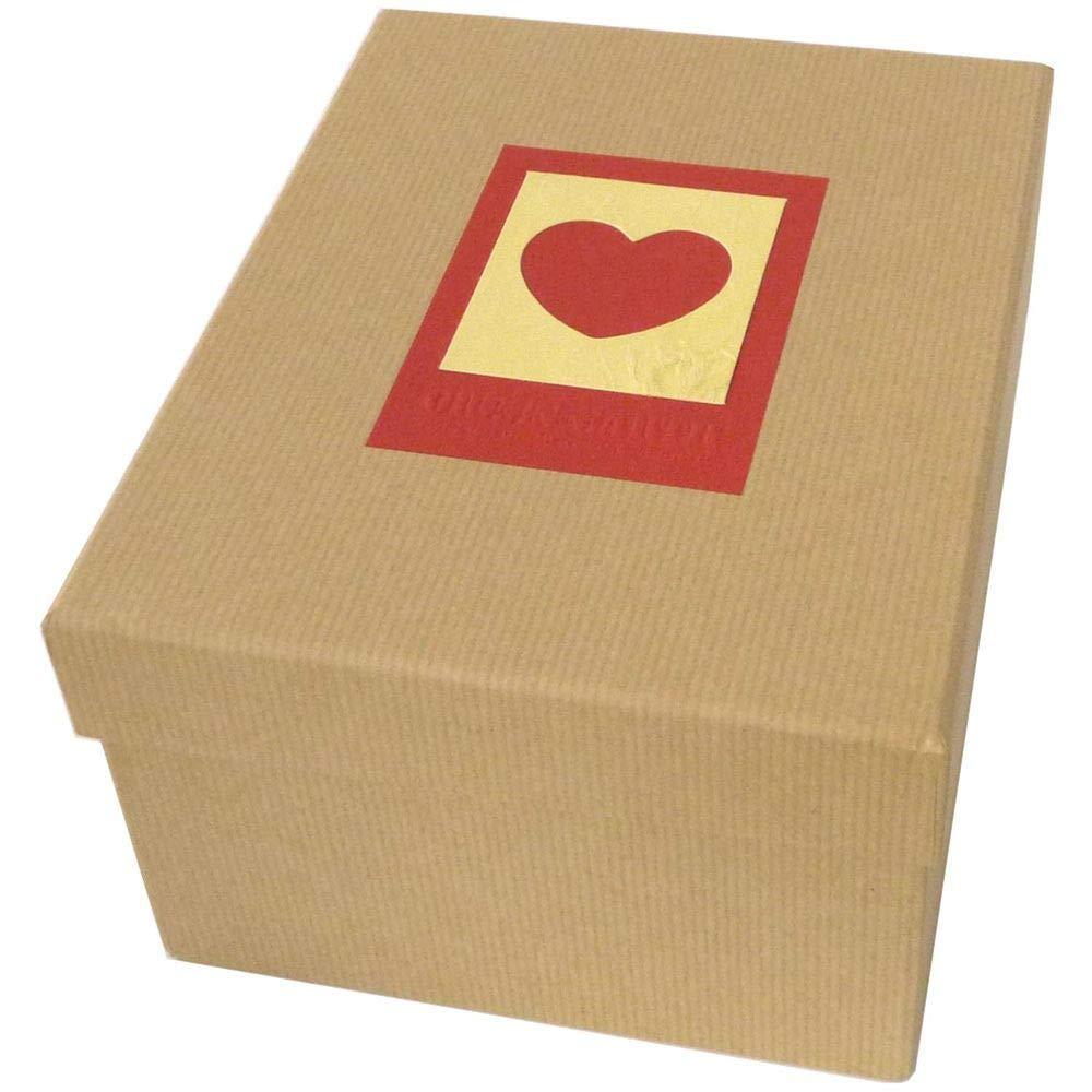 Red Dorr Green Earth Heart Box for 700 7 x 5-Inch Photos 16 x 12 x 12 cm Card