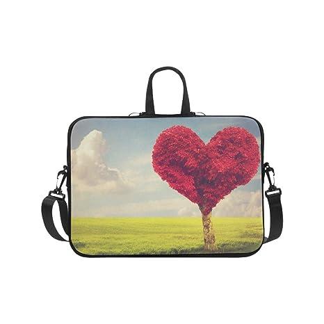 c70023e46cae Amazon.com: InterestPrint Valentine Heart Shape Red Tree Over Blue ...
