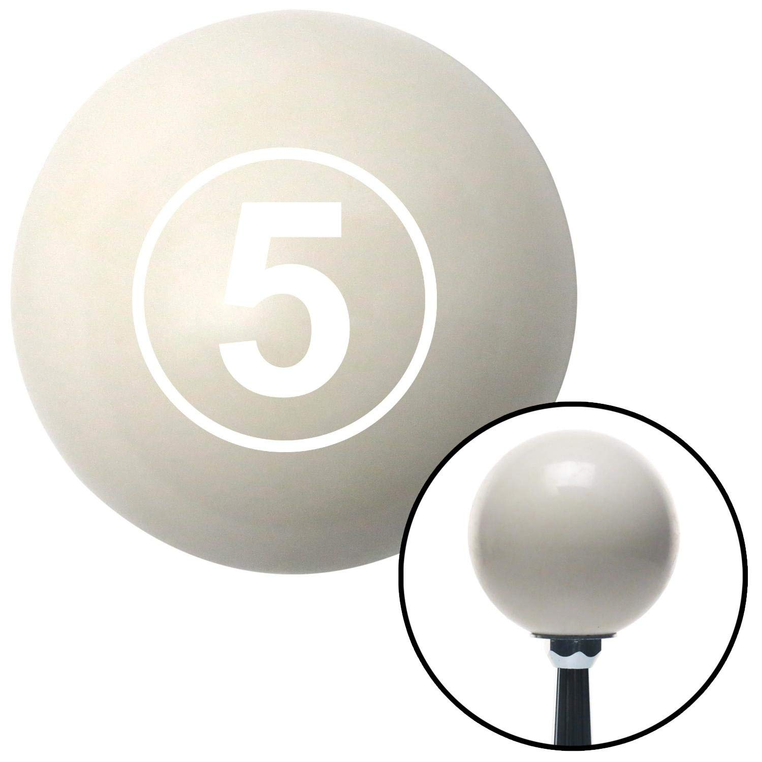 American Shifter 30310 Ivory Shift Knob with 16mm x 1.5 Insert White Ball 5