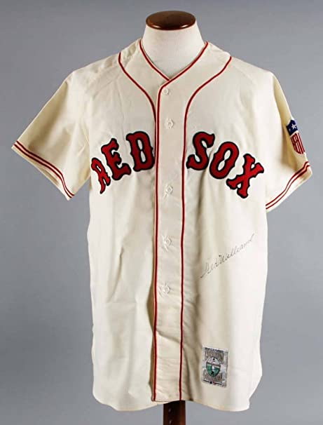 san francisco a3aba 7fe7a Ted Williams Signed Jersey Red Sox - COA JSA at Amazon's ...