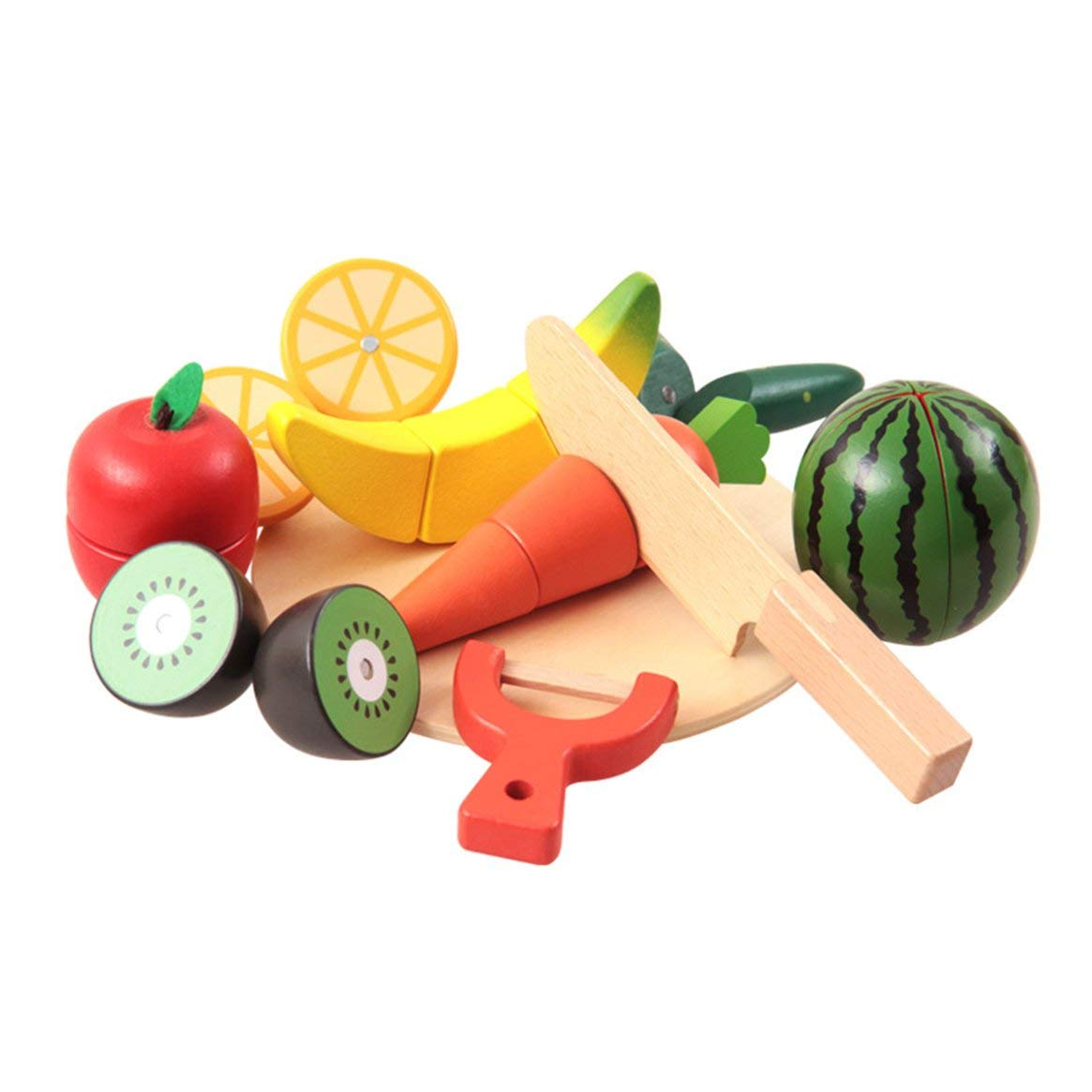 Colorful Magnet Children Play House Fruits Vegetables Cut Simulation Children Kitchen Toys Early Educational Toys - multicolor Delicacydex