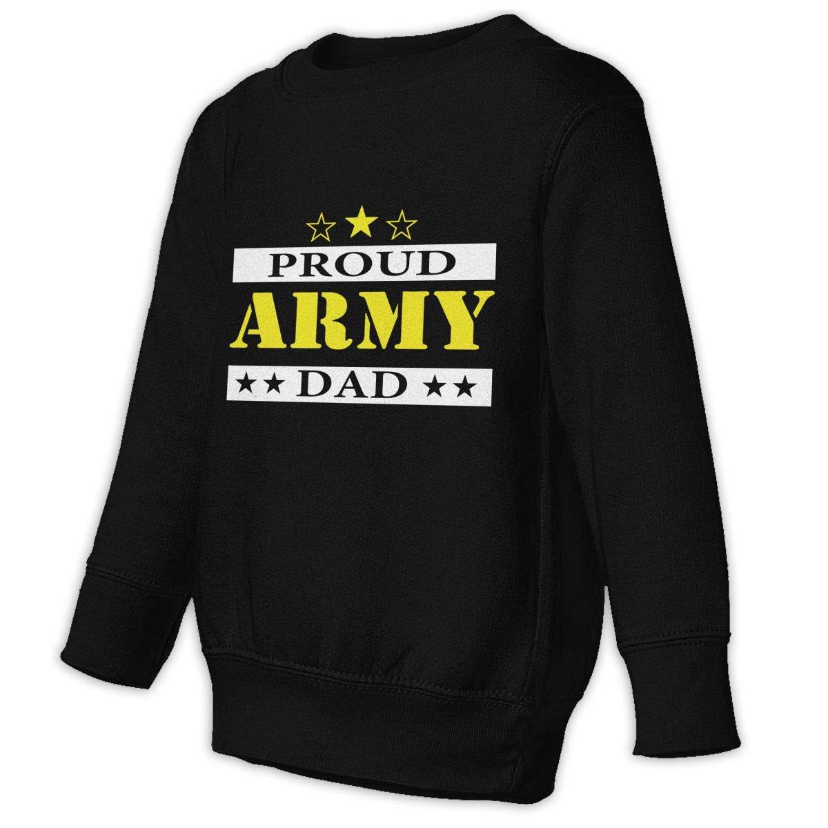GHYNJUM Army Dad Proud Toddler Unisex Cotton Long Sleeve Round Neck Sweatshirt