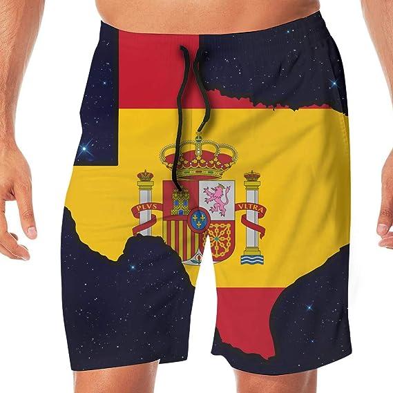 sheho Bandera de España Mapa de Texas Bañador para Hombre ...