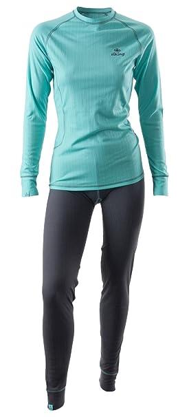 Viking Set De Ropa Interior Térmica Mujer Conjunto Pantalón y Camiseta Ropa Funcional Nora Set,