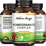 Cheap Natural & Pure Pomegranate Supplement For Women & Men – Powerful Antioxidant Pills + Immune System Booster – Best Energy Booster Supplements + Blood Pressure Control – Pure Capsules By Natures Design
