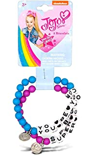 JoJo Siwa 7 Charam Bracelet with 2mm Metal Charm and Jelly Faceted Beads