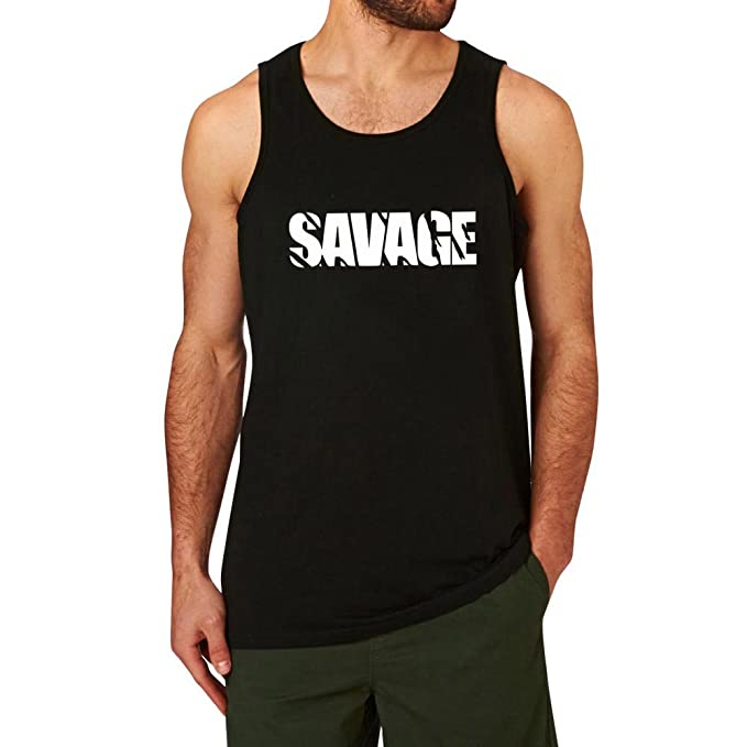 new products new specials bottom price Amazon.com: Loo Show Mens Savage Workout Graphic Gym Tank ...