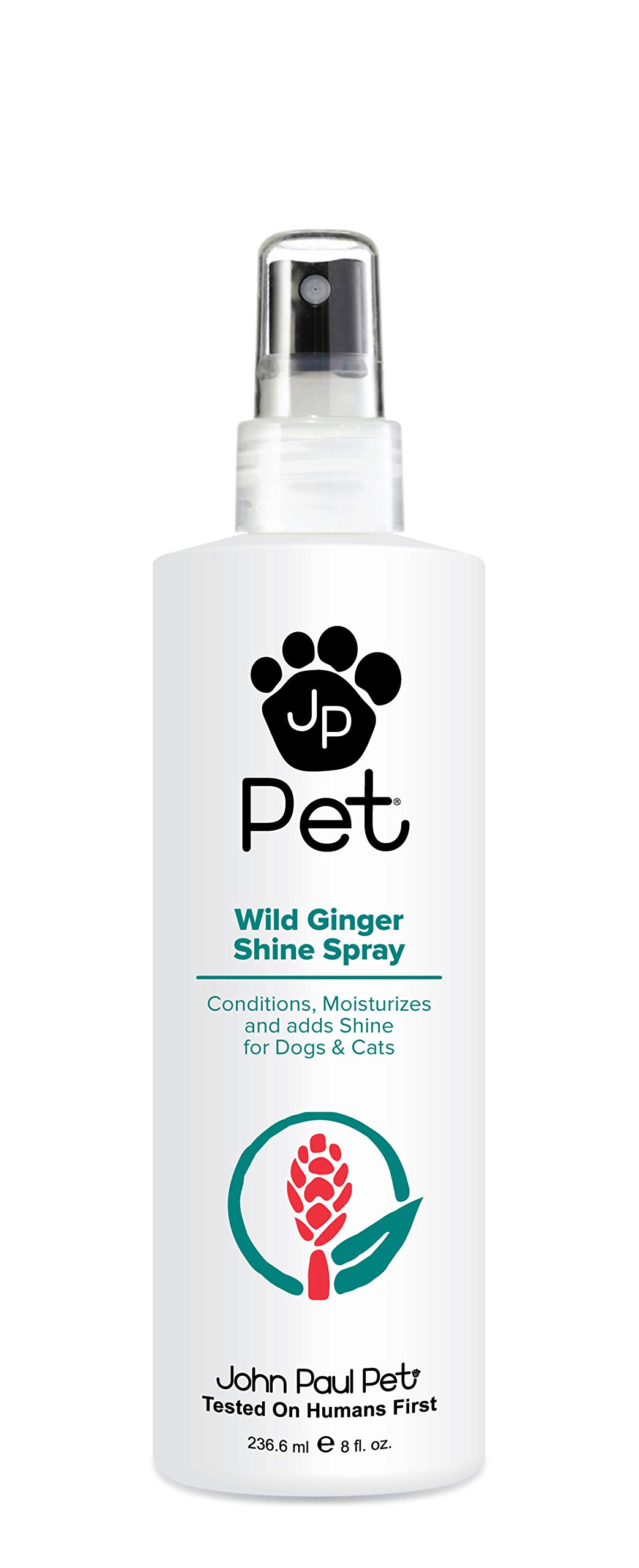 John Paul Pet Wild Ginger Shine Spray for Dogs and Cats, Soothes Conditions Moisturizes and Revitalizes Shine, Non-Aerosol, 8-Ounce by John Paul Pet