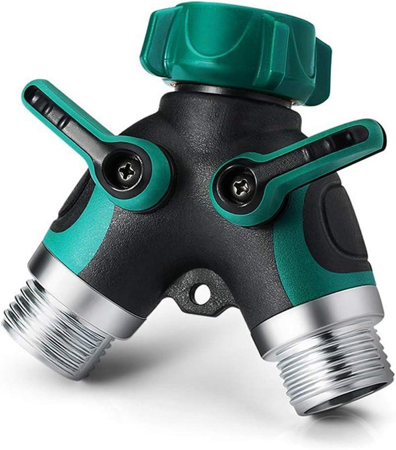 NSEN Y Valve, HoseSplitter, 2WayYConnector, with RubberGrip(Green)