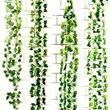 Zhao Xiemao 12 Artificial Ivy Leaf Garland Plants Vine Hanging Wedding Garland English Ivy Home Kitchen Garden Office Wedding Wall Decor.