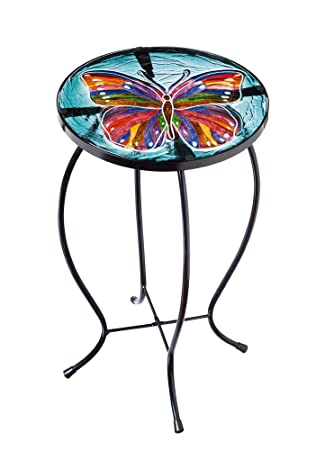 EverGreen Kaleidoscopic Butterfly Glass Table