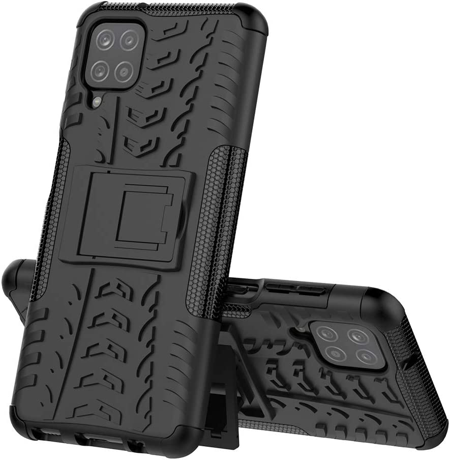 Protection en Verre Tremp/é Silicone Back Cover Skin Cases Housse Etui Protector pour Samsung Galaxy A12 5G xinyunew Coque Samsung Galaxy A12 5G 360 Degres Protection Bumper Noir