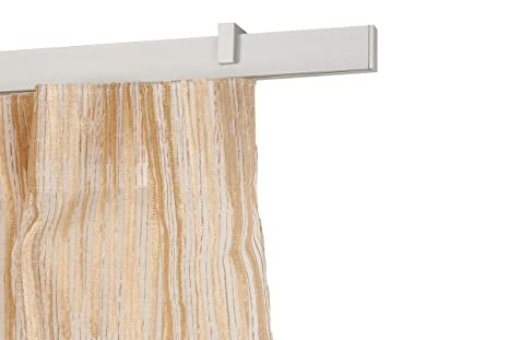 Binari Tende A Soffitto : Incasa binario per tende 32x12mm l. 140 cm. in alluminio satinato