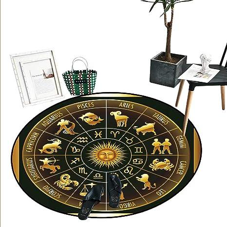 Amazon com: Astrology Round Rugs for Bedroom Wheel Zodiac