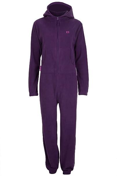 Mountain Warehouse Camber Mono con Capucha Mujer Forro Polar Invernal Pijama Morado Small / Medium