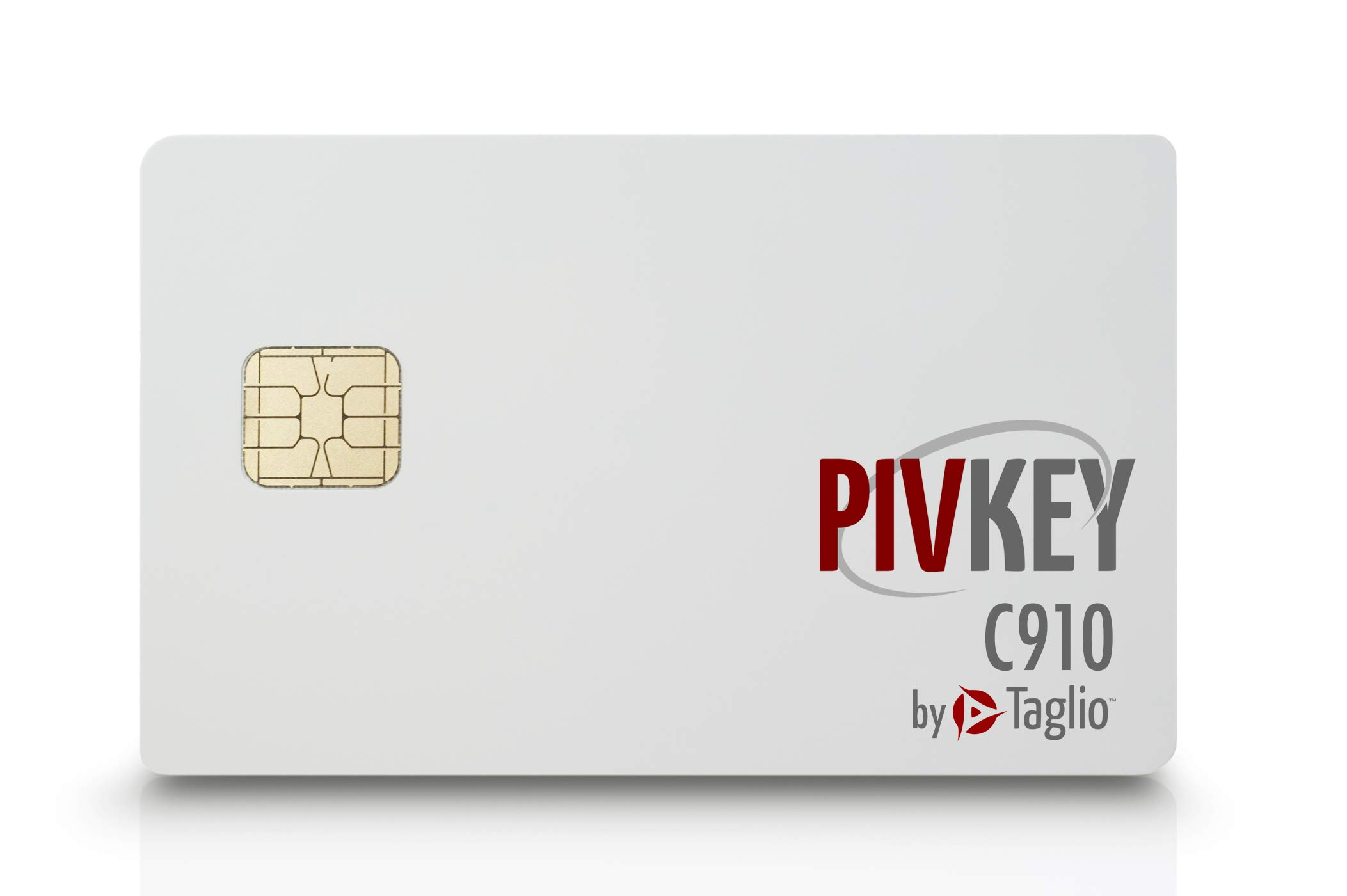 Taglio PIVKey C910 Certificate Based PKI Smart Card for Authentication and Identification, Dual Interface Contact/Contactless Smart Card, Supports Windows PIV Drivers, Standard ISO.