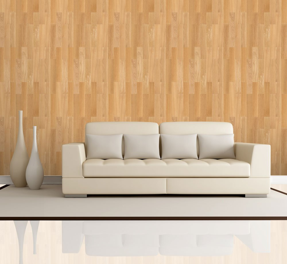 Vertical soft brown wood textured paneling pattern wall for Removable wallpaper wood paneling