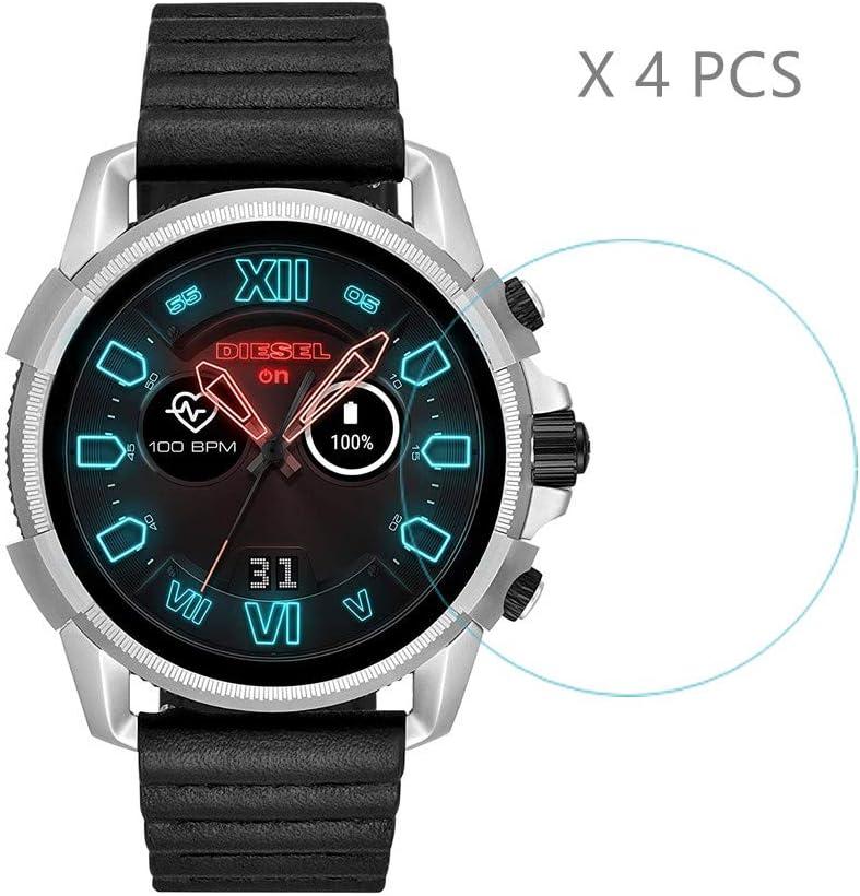 4 Protectores de Pantalla HLH para Diesel smartwatch, dureza 9H ...