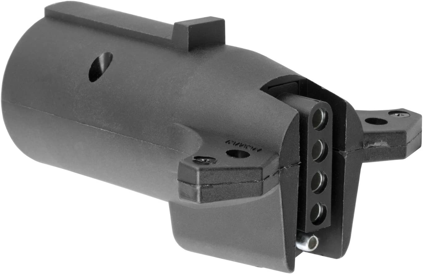 CURT 57251 7 RV Blade Vehicle-Side to 5-Way Flat Trailer Wiring Adapter