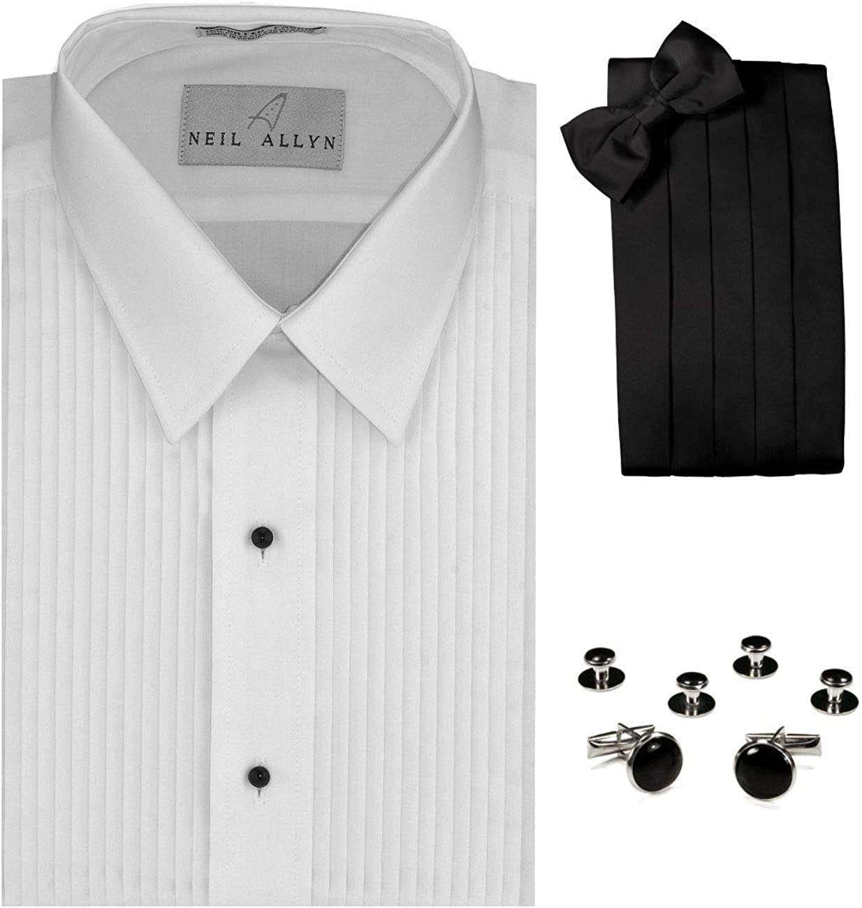 Blk//Silver trim  tuxedo cufflinks and studs Brand NEW