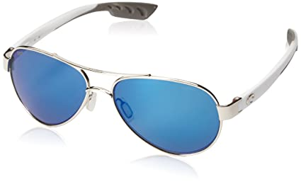 3735dd28d32 Amazon.com   Costa del Mar Loreto Sunglasses Palladium w White Blue ...