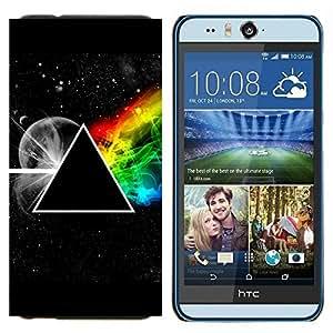 TECHCASE---Cubierta de la caja de protección para la piel dura ** HTC Desire Eye ( M910x ) ** --Triángulo Symbolics Secret Universo del arco iris