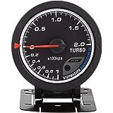 Qiilu Universal 60mm LED Turbo Boost manométrica Medidor para automóvil de Carreras 0-200 Kpa