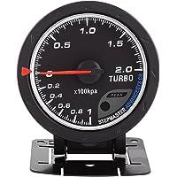 Qiilu Universal 60mm LED Turbo Boost manométrica Medidor